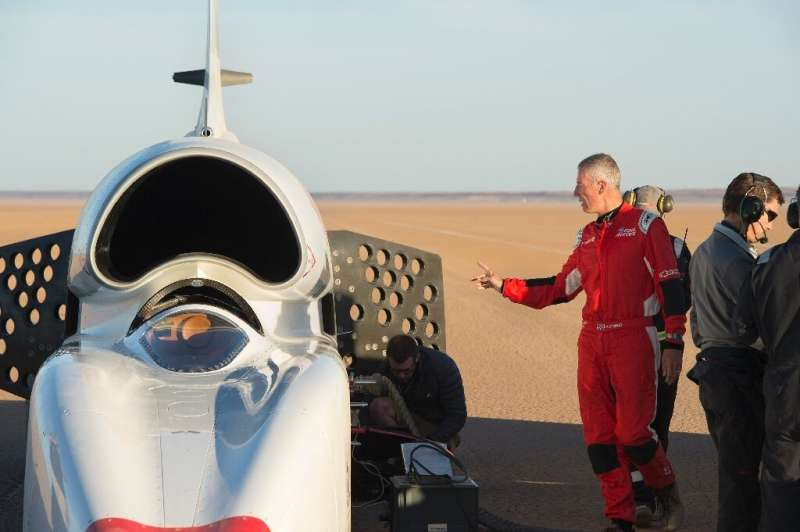 RAF pilot Andy Green is the driver of the Bloodhound, built exclusively for speed