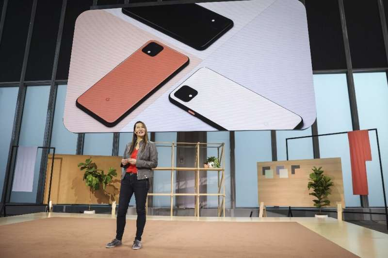 Sabrina Ellis, Google vice president of product management, introduces the new Google Pixel 4 smartphone during a Google launch