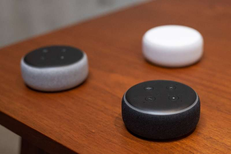 Smart speakers, such as Amazon's Echo Dot pictured here, can respond to a wide variety of queries and are especially helpful to