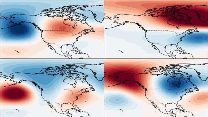 Snowmageddon warnings in North America come from tropics more than Arctic stratosphere