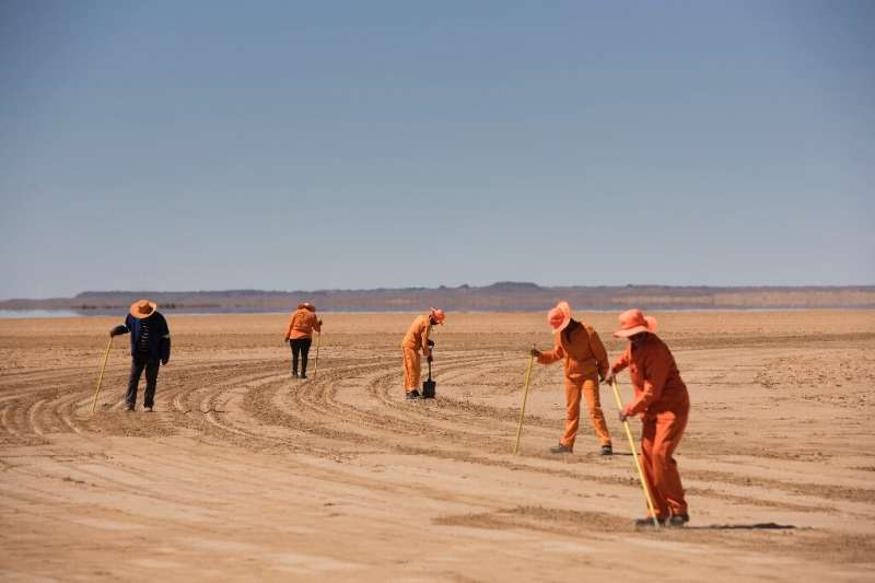 The British-built super racer was put to the test in the southern African Kalahari Desert