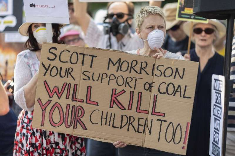 The fires have sparked climate protests targeting the conservative government, which has resisted pressure to address the root c