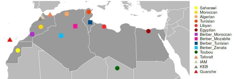 The genetic imprint of the Palaeolithic has been detected in North African populations