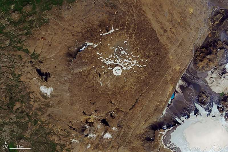 The Okjokull glacier in Iceland has melted away due to climate change