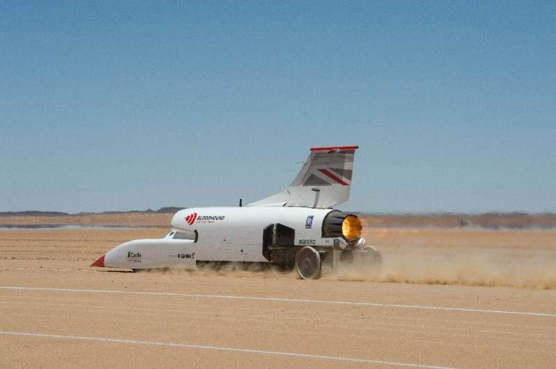 """The """"Bloodhound"""" is gearing up to try to break the current land speed record"""