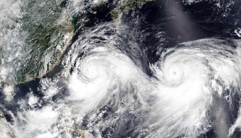 This satellite image shows Typhoon Lekima approaching southeastern China
