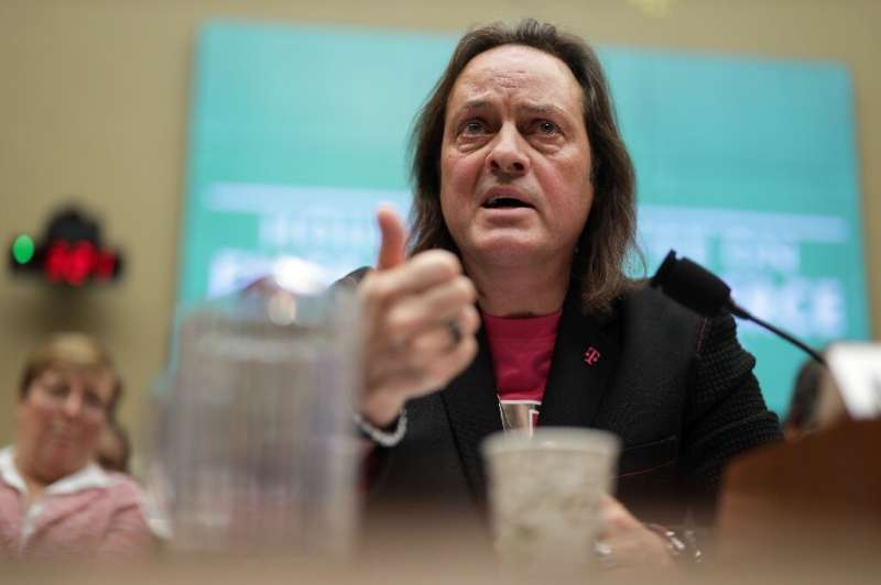 T-Mobile CEO John Legere, seen at a congressional hearing on the merger of the wireless carrier with rival Sprint, would head th