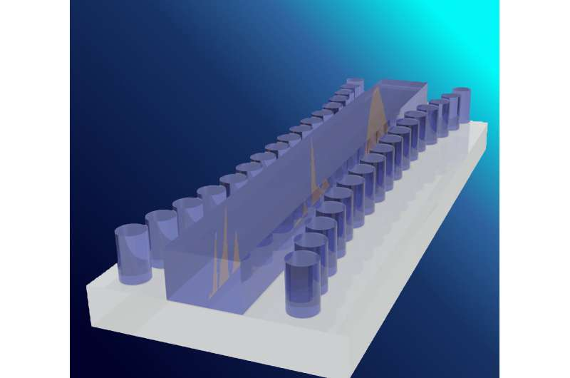 'Tsunami' on a silicon chip: a world first for light waves