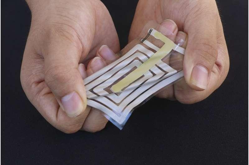 Wireless sensors stick to skin and track health