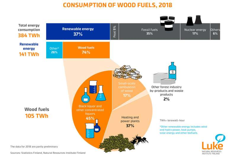 Wood consumption in energy generation continues to increase