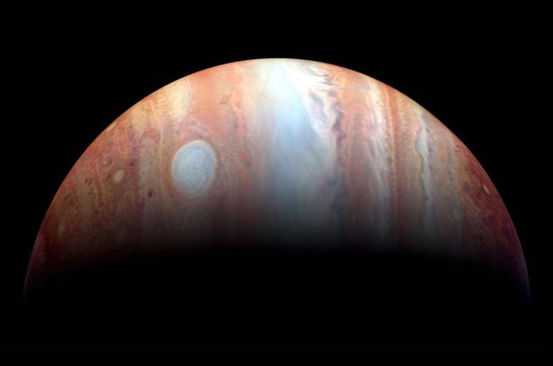Young Jupiter was smacked head-on by massive newborn planet