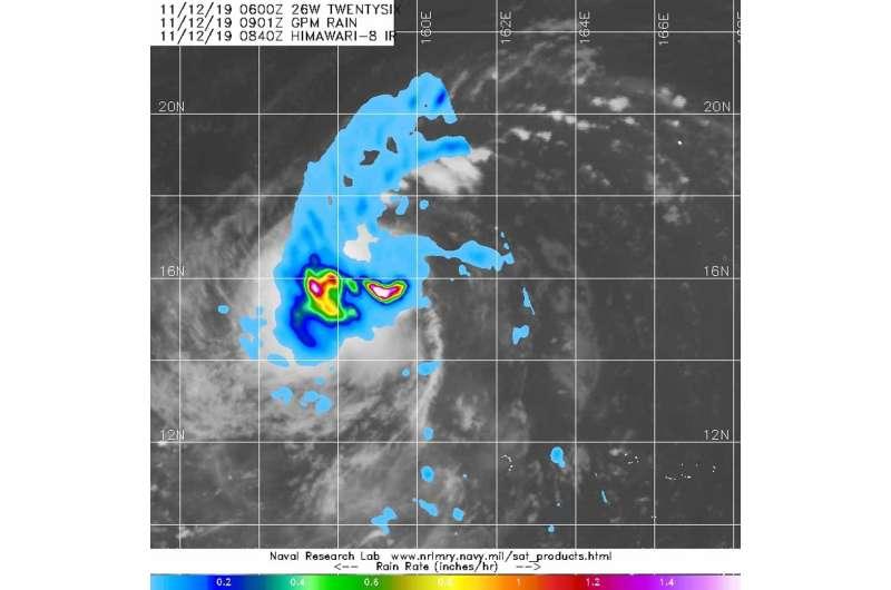 NASA finds heavy rain in Tropical Storm Fengshen
