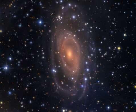 Astronomers investigate an unusual massive gas-rich galaxy