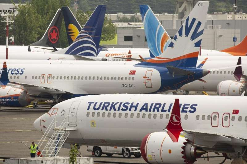 Boeing 737 MAX jets, shown here in Seattle in May, have been grounded since mid-March following two deadly crashes