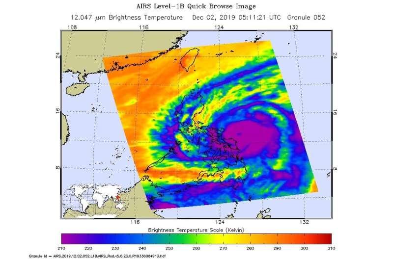 NASA catches typhoon Kammuri post landfall