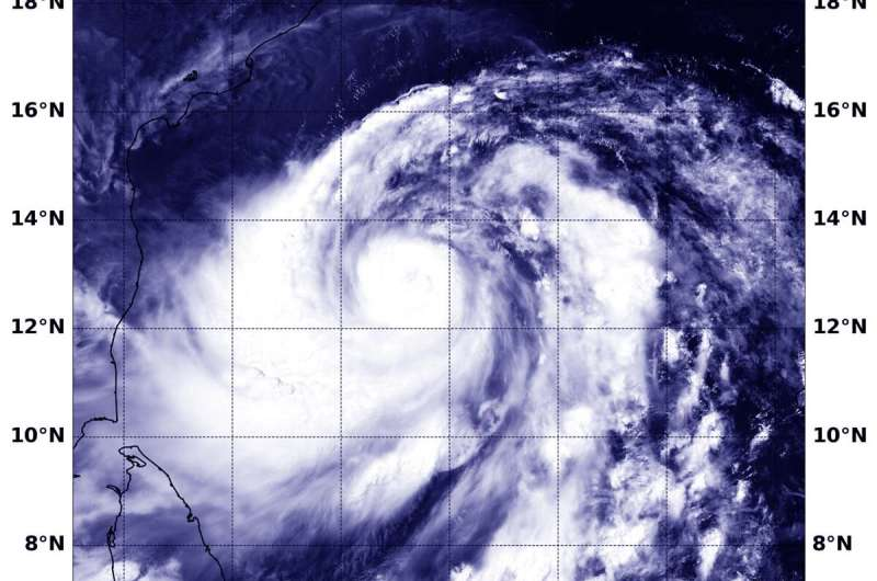 NASA's Aqua Satellite finds Tropical Cyclone Fani stronger, more organized