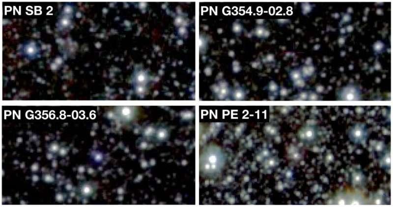 Astronomers identify four globular cluster planetary nebulae candidates