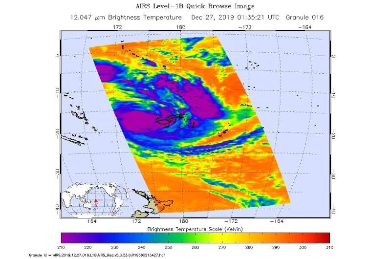 NASA finds heavy rain potential in tropical storm Sarai