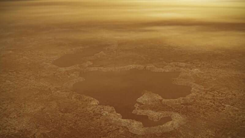 New study finds the mix that makes Titan's lakes spew nitrogen bubbles