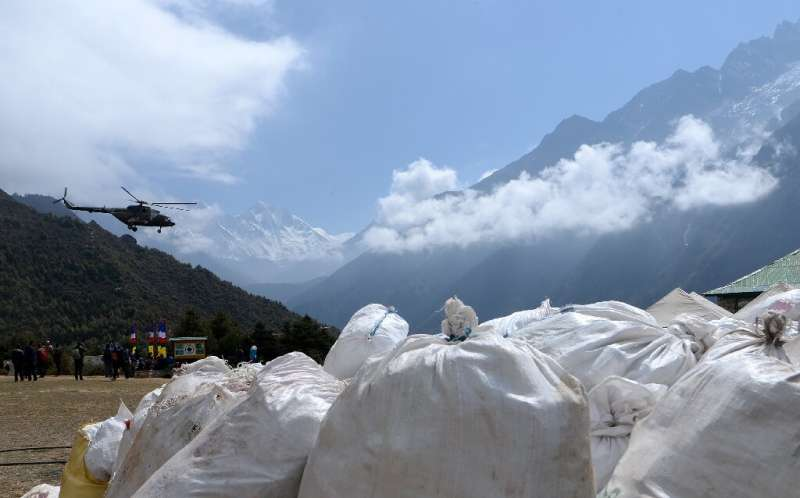 Environmentalists are concerned that pollution on Mount Everest is affecting water sources down in the valley