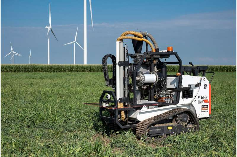 Autonomous robots enter fields to collect precise soil samples, help farmers improve yields, reduce environmental impact, save m