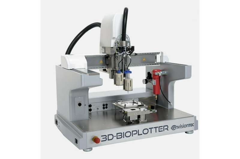Bioplotting bone-mimetic 3D tissue scaffolds with osteogenic effects