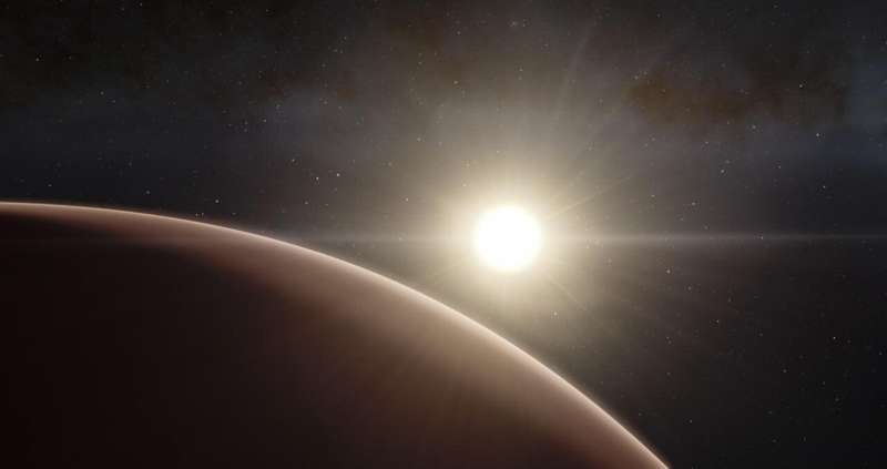 Gas giant composition not determined by host star