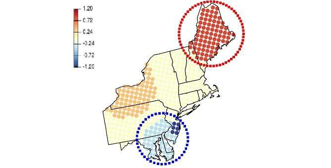 More accurate detection of hotspot clusters provides new insights into the behavior of air pollution