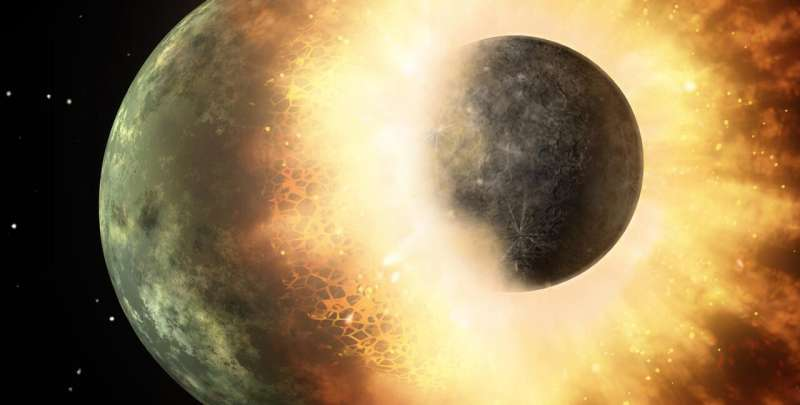 Planetary collisions can drop the internal pressures in planets