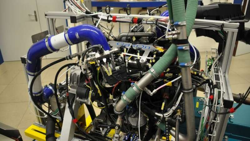 Record efficiency for a gas engine