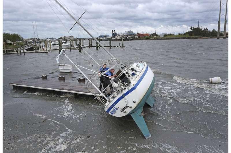 Stranded North Carolinians take stock of Dorian's damage