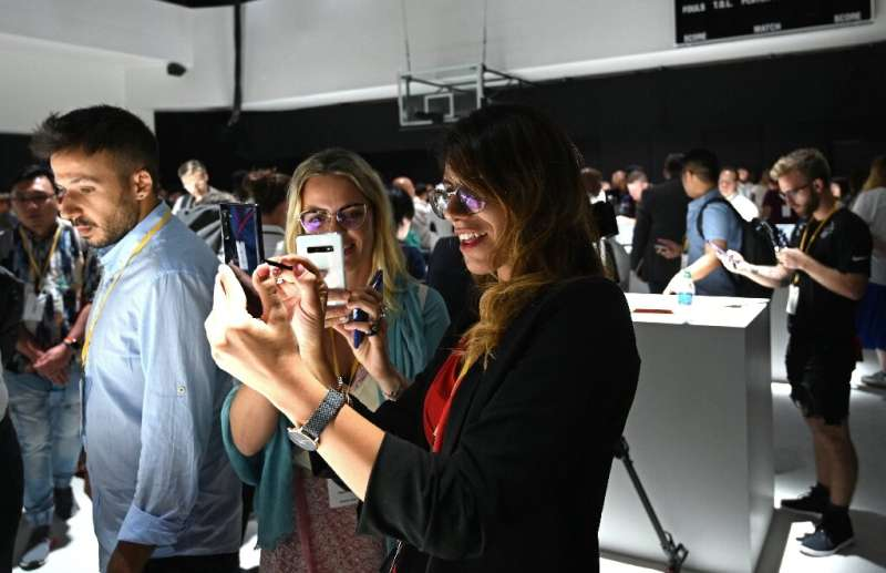 The Samsung Galaxy Note 10 was on display after its launch at an event in Brooklyn, New York on August 7