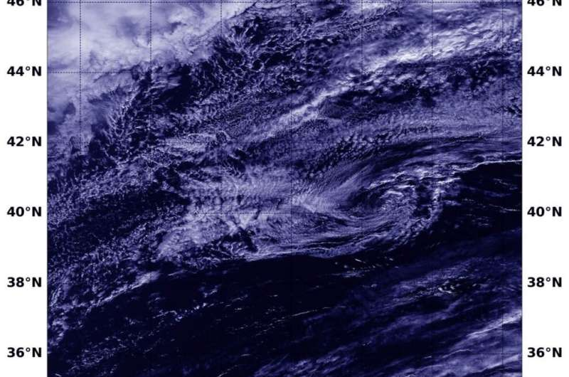 NASA satellite imagery finds Rebekah now post-tropical