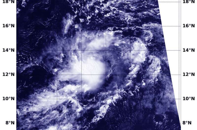 NASA-NOAA satellite provides forecasters a view of tropical storm Jerry's structure