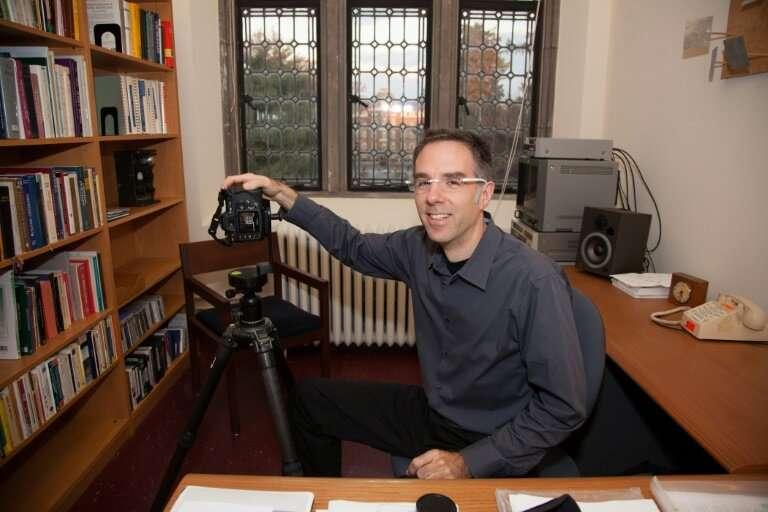 Art professor Andrew Tallon at his office at Vassar College in Poughkeepsie, New York in November 2009