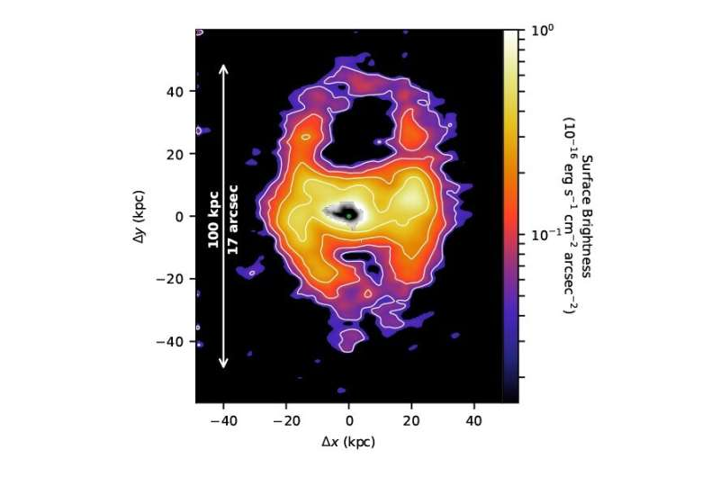Astronomers catch wind rushing out of galaxy
