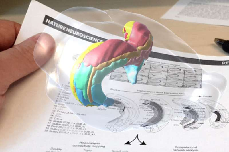 Augmented reality app adds interactive enhancements to scientific posters, presentations