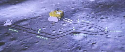 China broadcasts spacecraft pictures from moon's far side