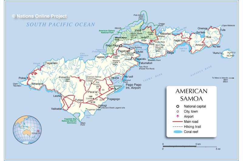 Earthquake in 2009 intensified American Samoa's rising sea levels
