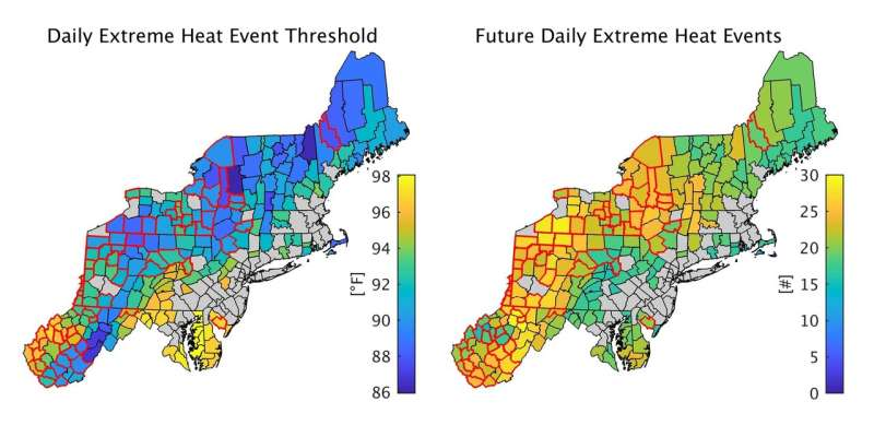 How climate change will affect the rural northeast: Expect three weeks of heat