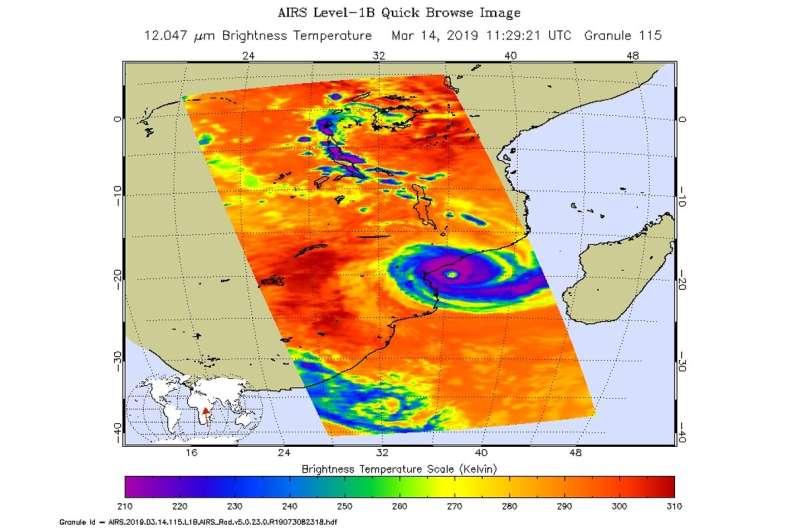 NASA catches Tropical Cyclone Idai making landfall in Mozambique