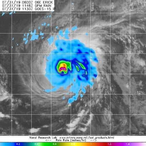 NASA finds heavy rain in hurricane Erick