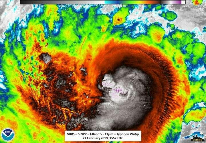 NASA-NOAA satellite analyzes Typhoon Wutip