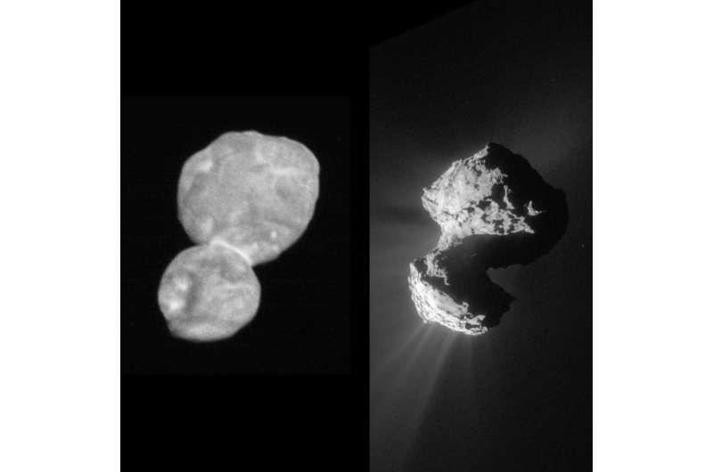 Rosetta's comet sculpted by stress