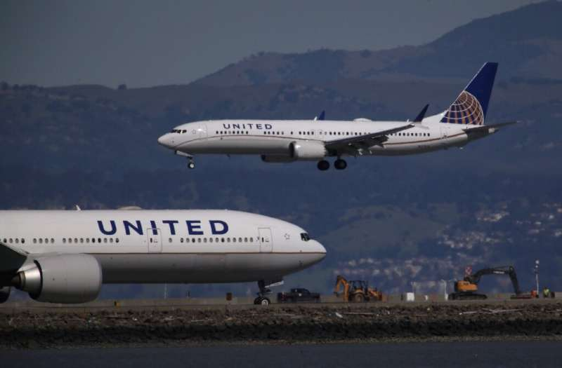 United Airlines, whose fleet mainly consists of Boeing planes (similar to the 737 MAX planes pictured), placed an order for 50 A