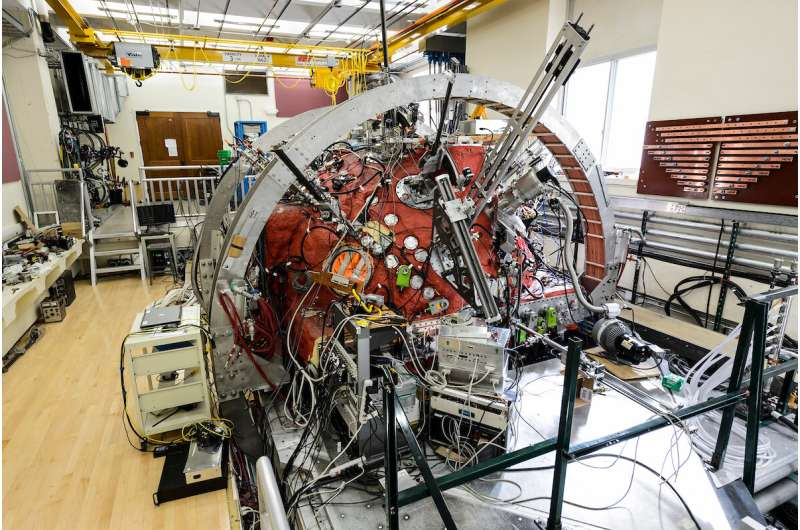 Researchers recreate the sun's solar wind and plasma 'burps' on Earth