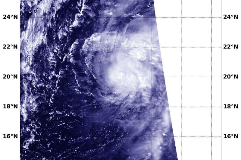 NASA-NOAA satellite finds Tropical Storm Neoguri consolidating