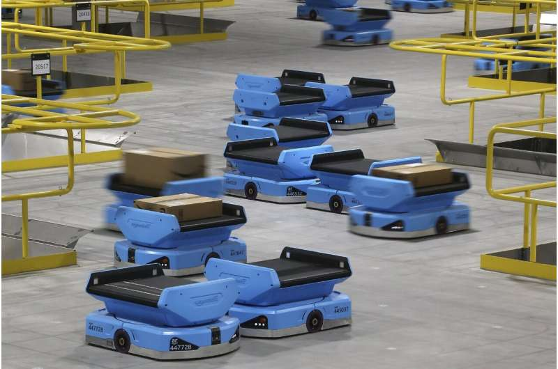 As robots take over warehousing, workers pushed to adapt