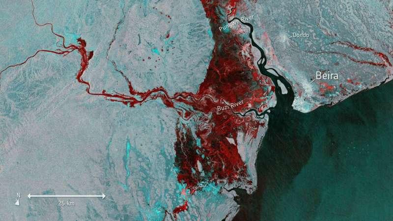 Copernicus Sentinel-1 maps floods in wake of Idai