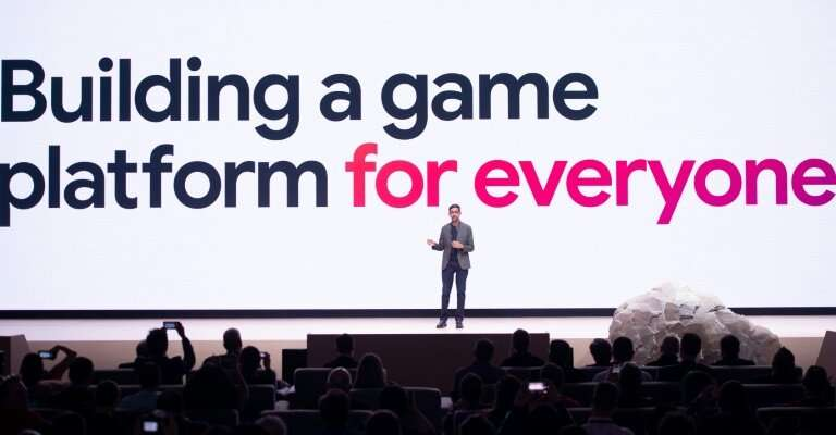 """Google CEO Sundar Pichai said the online giant's Stadia technology aimed """"to build a game platform for everyone"""""""